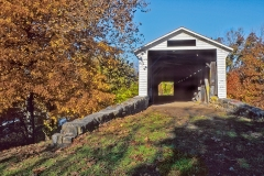 UNION COVERED BRIDGE IN FALL TWO  #AM109